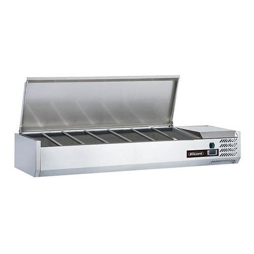 Blizzard 1/4 Gastronorm Prep Top With Hinged Lid 1500mm(W) - TOP1500-14EN